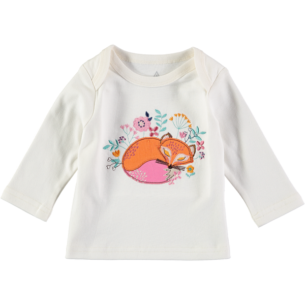 Friendly Fox Long Sleeve Embroidered Tee shirt,Shirts,Rockin' Baby-The Little Clothing Company