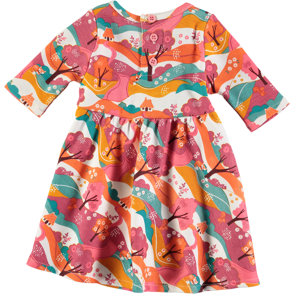 Baby Woodland Jersey Long Sleeve Dress,Dresses,Rockin' Baby-The Little Clothing Company