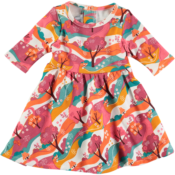 Baby and Girl's Woodland Jersey Long Sleeve Dress