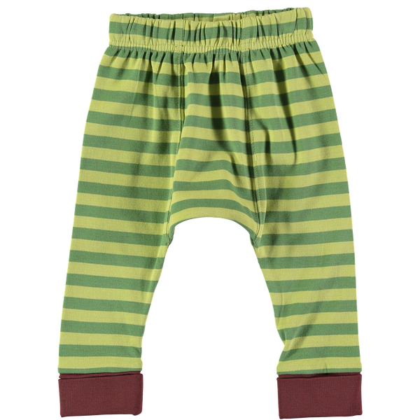 Crawlin' Green Stripe Leggings,Bottoms,Rockin' Baby-The Little Clothing Company