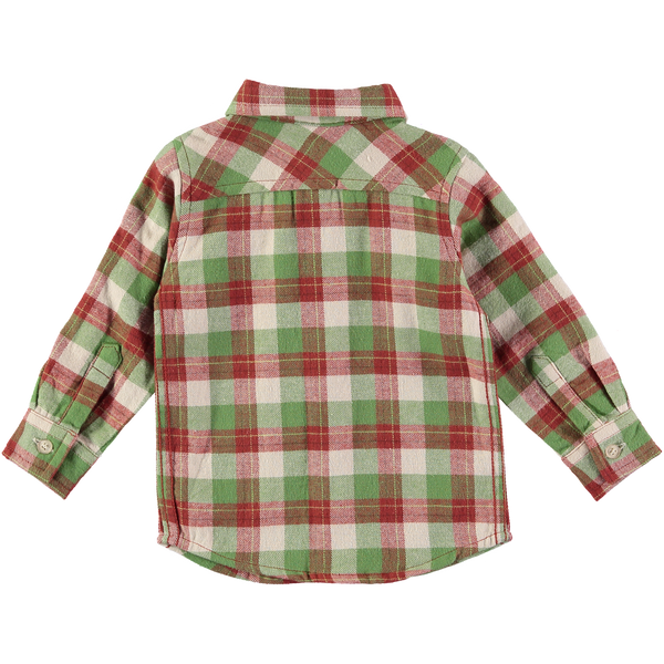 Charlie Brown and Green Plaid Shirt,Shirts,Rockin' Baby-The Little Clothing Company