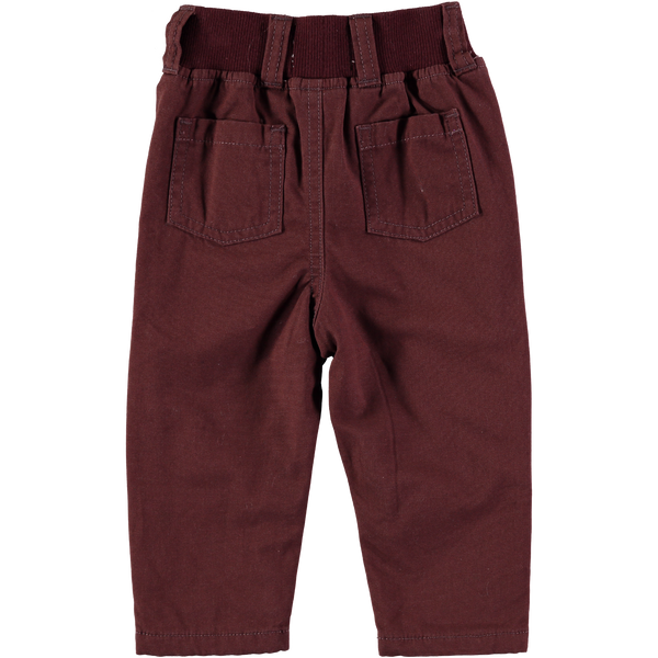Max Brown Jersey Lined Chino,Bottoms,Rockin' Baby-The Little Clothing Company