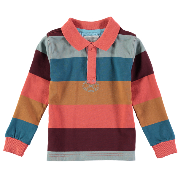 Iceland Stripe Long Sleeve Rugby Tee,Shirts,Rockin' Baby-The Little Clothing Company