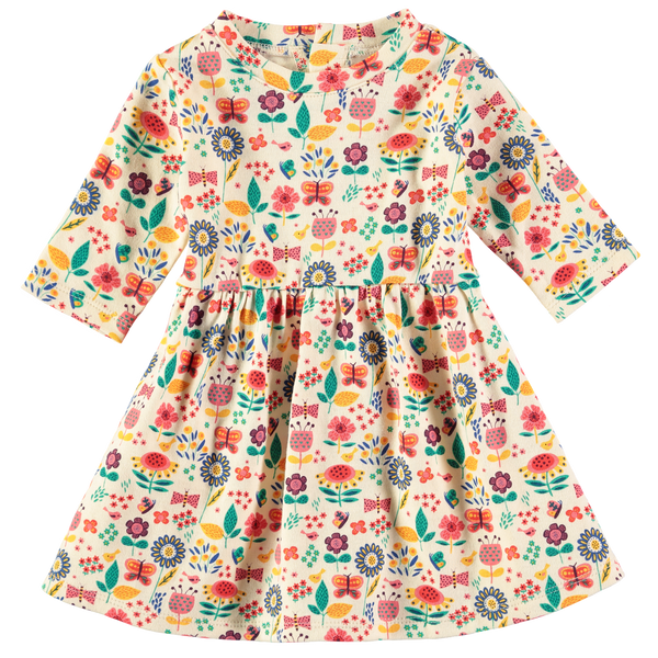 Baby and Girl's Garden Party Jersey Long Sleeve Dress