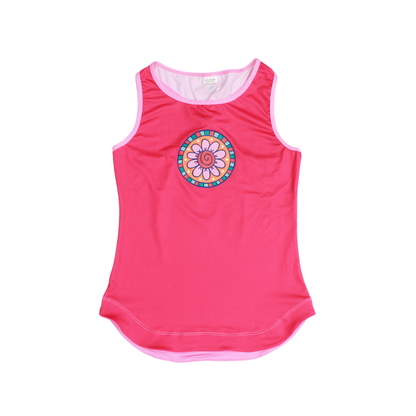 Kaleidoscope Flower Racer Back Tank,Shirts,Chooze-The Little Clothing Company