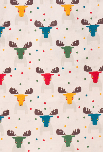 rainbow colored moose print