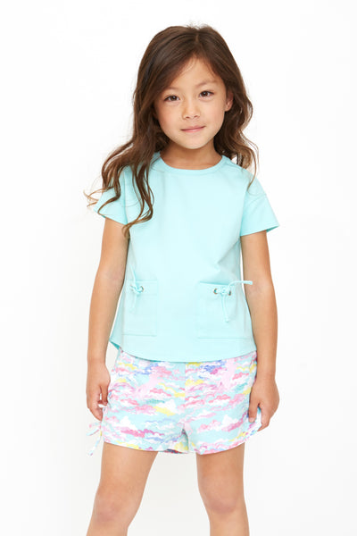 Rainbow Unicorn in the Clouds Organic Cotton Shorts