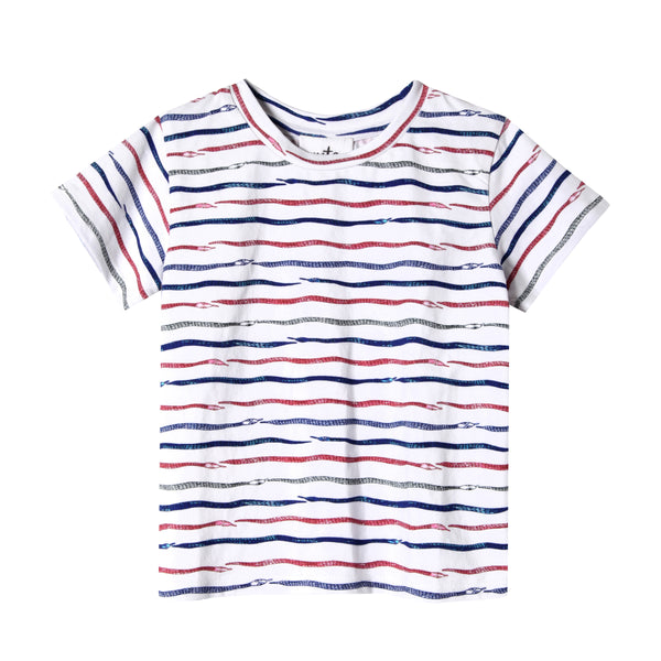 Slither Snake Stripe Baby Graphic Tee,Shirts,Art & Eden-The Little Clothing Company