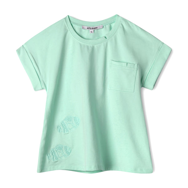 Keep Swimming Sea Green Tee,Shirts,Art & Eden-The Little Clothing Company
