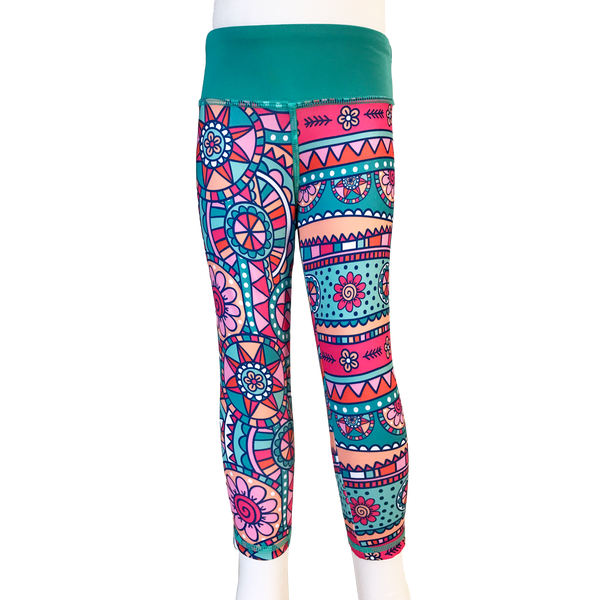 Kaleidoscope Flower Cropped Legging