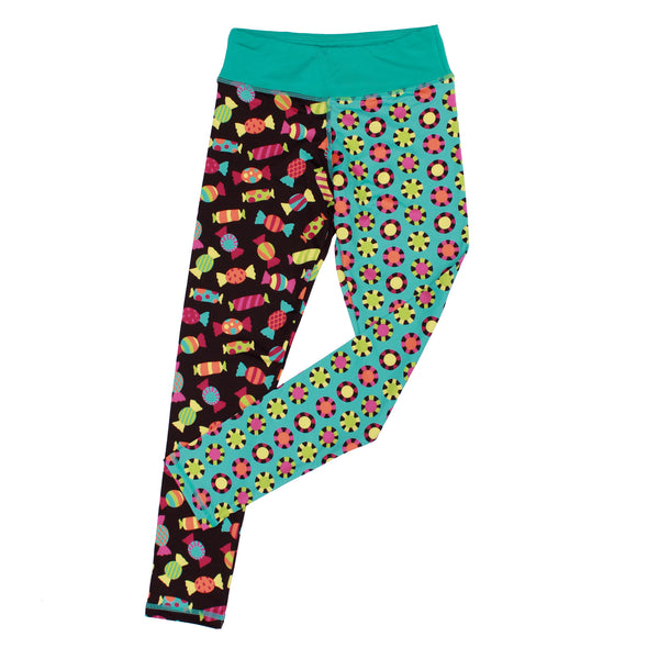 Candy Girl Splits Leggings,Bottoms,Chooze-The Little Clothing Company