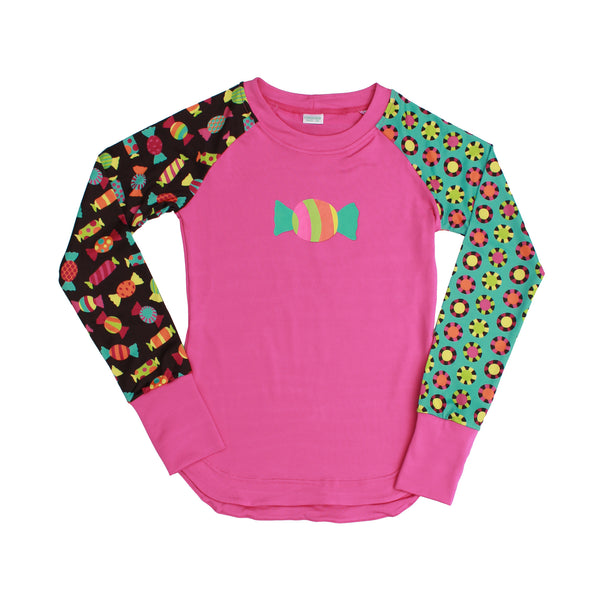 Candy Girl Athletic Long Sleeve Tee