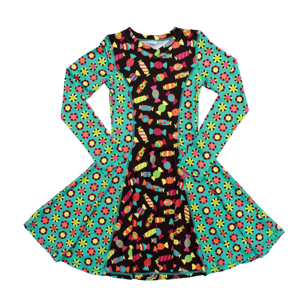 Candy Girl Long Sleeve Dress,Dresses,Chooze-The Little Clothing Company