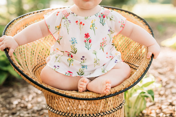Baby Girl Enchanted Garden Top and Bloomer Set