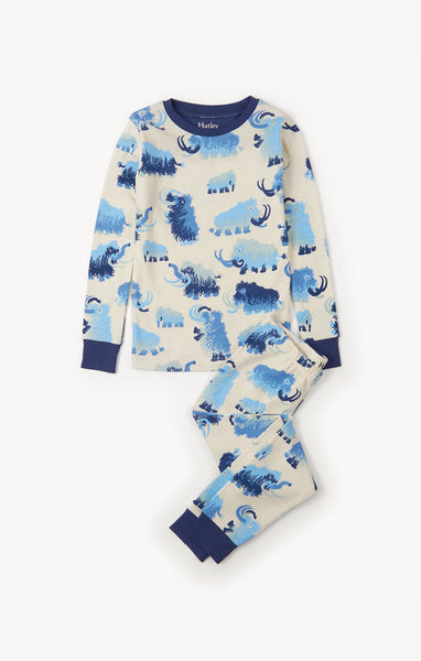 Wooly Mammouth Boys Long Sleeve Pajamas,Pajamas,Hatley-The Little Clothing Company