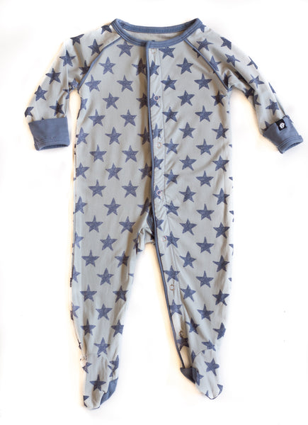 Bamboo Baby Stars Footed Sleeper,Sleepers,Sweet Bamboo-The Little Clothing Company