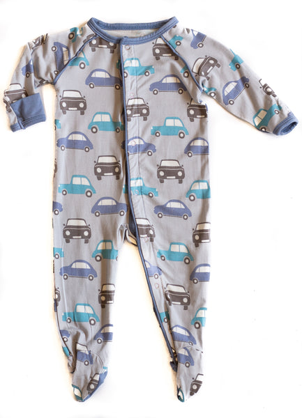 Bamboo Baby Cars Footed Sleeper,Sleepers,Sweet Bamboo-The Little Clothing Company