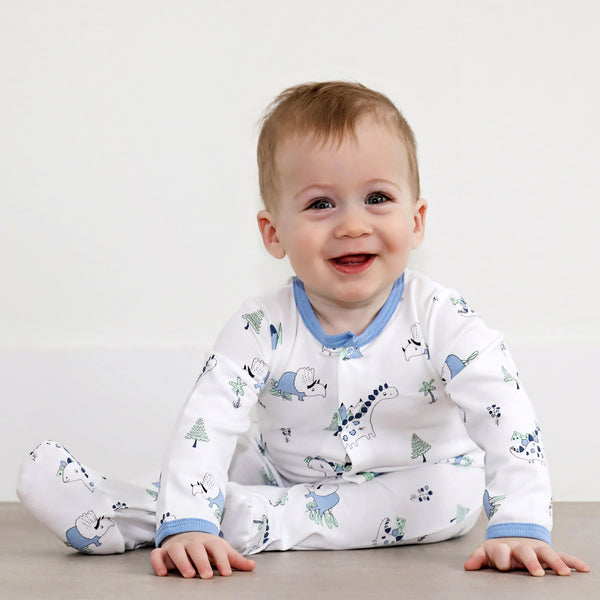Baby Dinosaur Snap Footed Sleeper,Sleepers,Baby Noomie-The Little Clothing Company