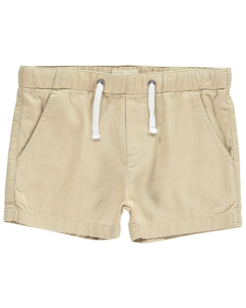 Baby and Boy's Woven Khaki Drawstring Shorts,Bottoms,Me and Henry-The Little Clothing Company