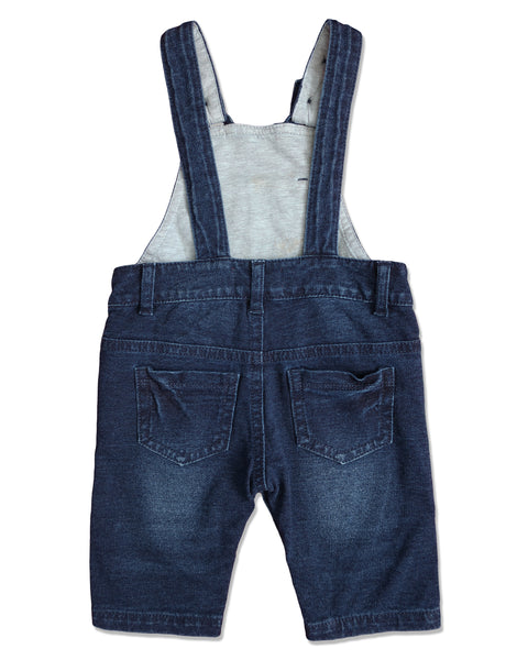 baby denim cotton overalls button strap back