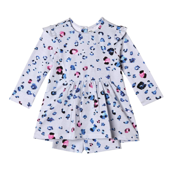 Baby Girl Leopard Spotted Organic Cotton Dress,Dresses,Art & Eden-The Little Clothing Company
