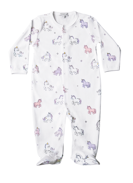 Baby Girl Unicorn Snap Footed Sleeper,Sleepers,Baby Noomie-The Little Clothing Company