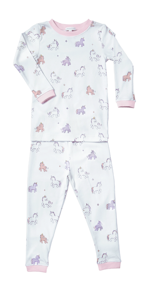 Baby and Girl Unicorn Two Piece Pajama,Sleepers,Baby Noomie-The Little Clothing Company