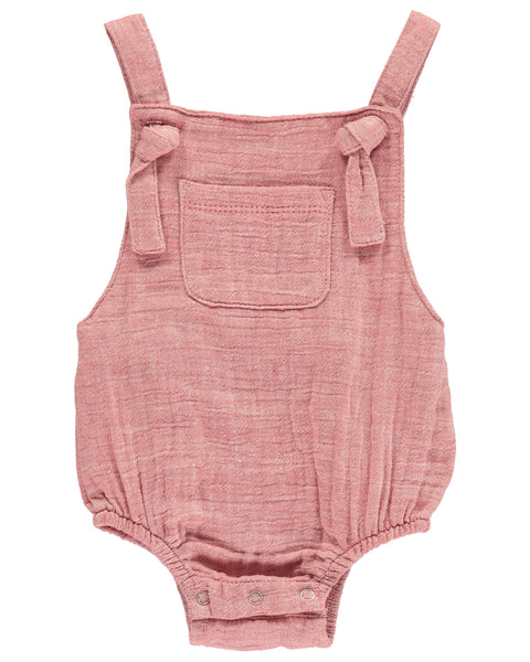 Baby Gender Neutral Red Bubble Romper,Romper,Me and Henry-The Little Clothing Company