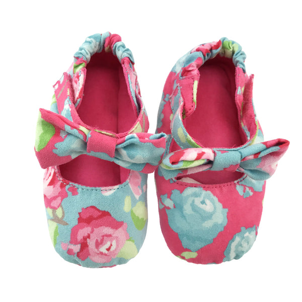 Rosy Girl Baby Booties