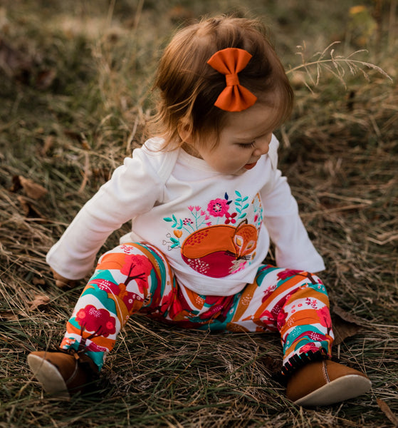 Friendly Fox Long Sleeve Embroidered Tee shirt - 4T,Shirts,Rockin' Baby-The Little Clothing Company