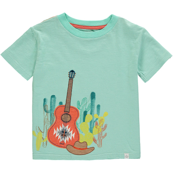 Desert Guitar & Cactus Boy Short Sleeve Tee