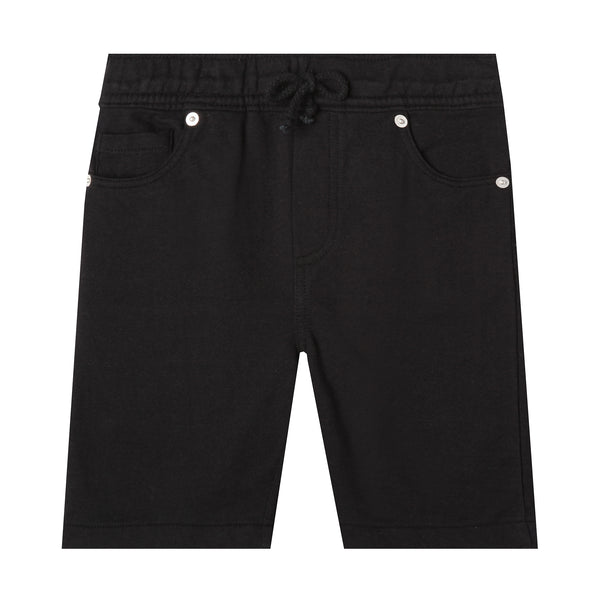 Baby and Boy Black Organic Cotton Shorts,Bottoms,Art & Eden-The Little Clothing Company