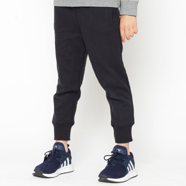 Baby and Kid's Black Organic Cotton Joggers,Bottoms,Art & Eden-The Little Clothing Company