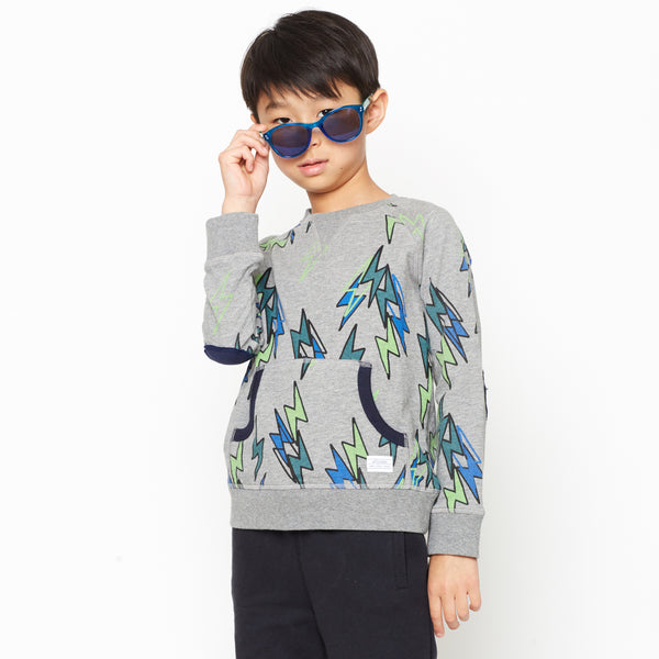 Boy's Lightening Bolt Organic Cotton Sweatshirt,Shirts,Art & Eden-The Little Clothing Company