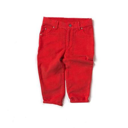 Boy's Red Corduroy Pants,Bottoms,Little Green Radicals-The Little Clothing Company