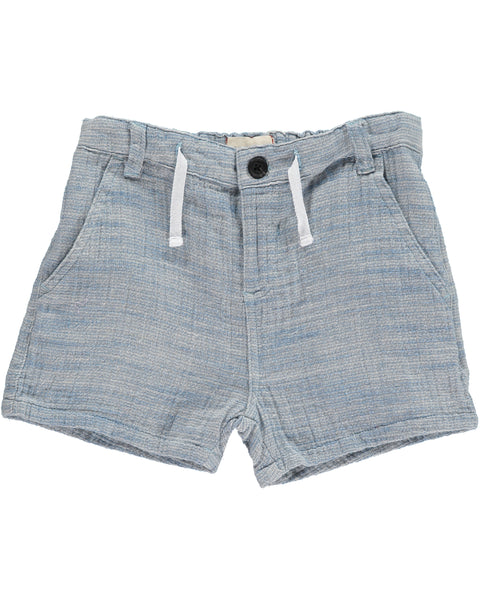 Boy's Blue Woven Drawstring Shorts,Bottoms,Me and Henry-The Little Clothing Company