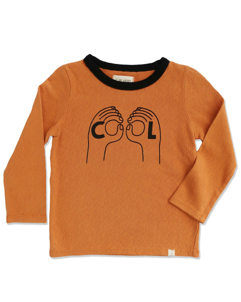 Cool Boy Orange Long Sleeve Graphic Tee,Shirts,Me and Henry-The Little Clothing Company