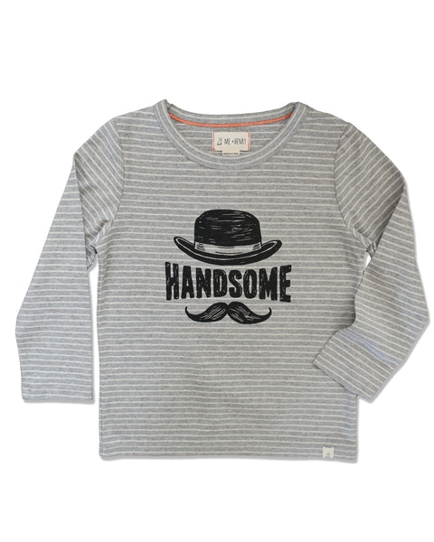 Handsome Boy Long Sleeve Graphic Tee,Shirts,Me and Henry-The Little Clothing Company