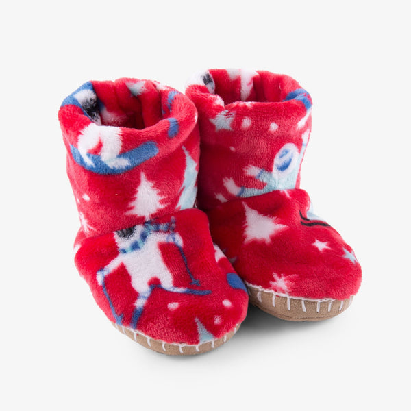 red yeti monster fleece slippers