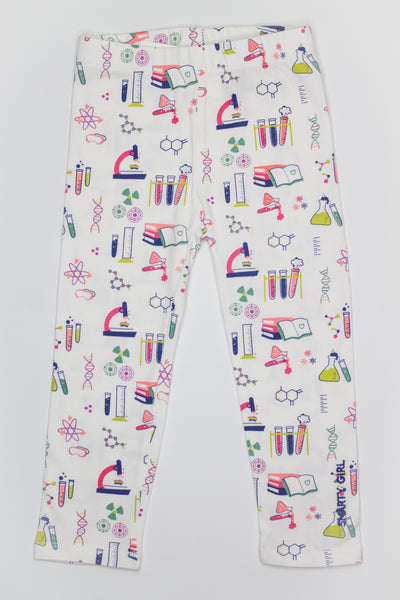 Smarty Girl Science & Chemistry Baby & Girl Organic Cotton Leggings,Bottoms,Smarty Girl-The Little Clothing Company