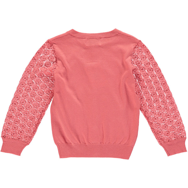 Coral Starburst Sleeve Girls Cardigan,Shirts,Rockin' Baby-The Little Clothing Company