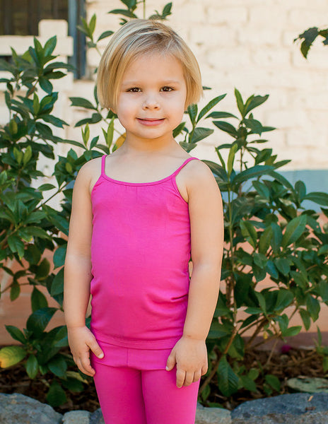 Bamboo Girl's Raspberry Camisol,Shirts,Sweet Bamboo-The Little Clothing Company