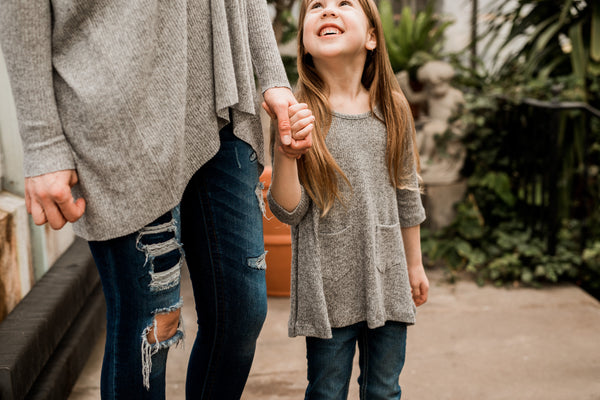 Gray Tunic for Girls,Shirts,Freeloader-The Little Clothing Company