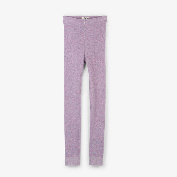 girl glitter sparkle purple pink legging tights