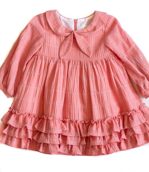 Girl's Pink Plaid Ruffle Dress,Dresses,Mabel + Honey-The Little Clothing Company
