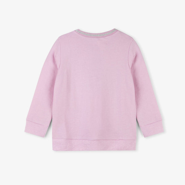 Sequined Snowflake Girl's Pink Pullover Sweater,Shirts,Hatley-The Little Clothing Company