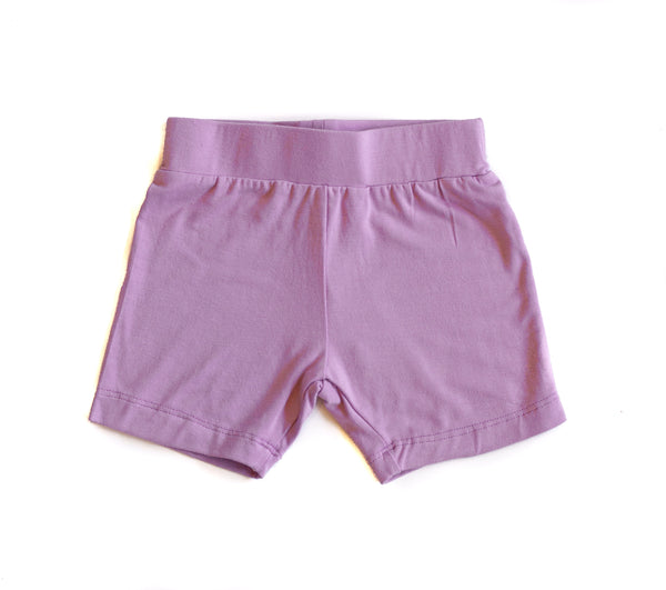 Bamboo Baby & Girl Lavender Layering Shorts,Bottoms,Sweet Bamboo-The Little Clothing Company