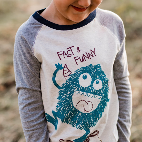 Little Monster Long Sleeve Tee,Shirts,Art & Eden-The Little Clothing Company