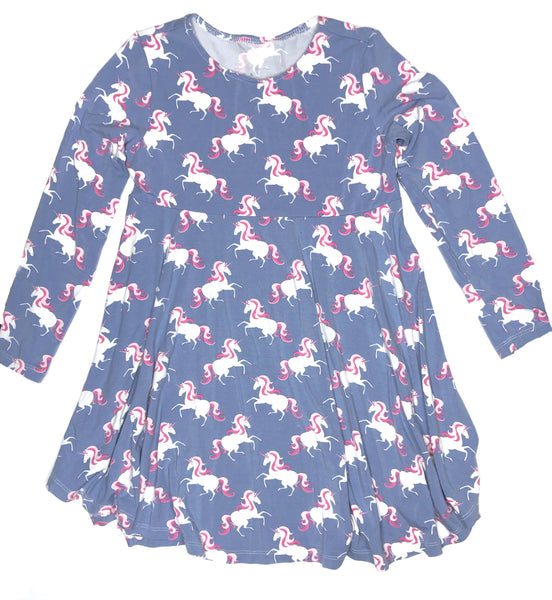 Bamboo Baby & Girl Unicorn Twirl Dress