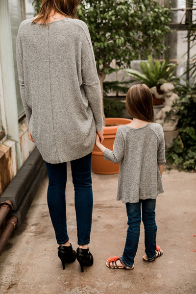 Gray Tunic Top for Mom